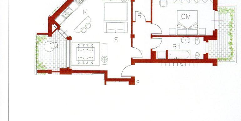 Piano Primo 2B15 €.113 Bilocale mq.82